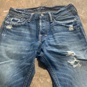 Ruehl New York Men's Jeans 28X30 Distressed C0130